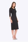 Платье-миди чёрного цвета Emka PL-677/djolin