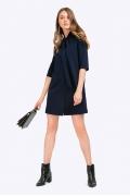 Короткое платье-рубашка с бантом Emka PL702/complexe