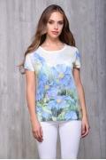 Женская футболка с голубыми цветами Issi 171117