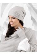 Женская шапка светло-серого цвета Kamea Bergamo