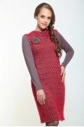 Серо-красное платье Bravissimo 162559