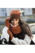Женская шапка цвета терракот Kamea Elena-Badge