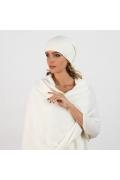Женская шапка молочного цвета Kamea Penelopa