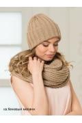 Женская шапка светло-бежевого цвета Landre Берлин