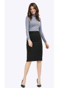 Базовая черная юбка-миди Emka S669/alika