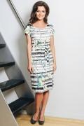 Летнее платье с поясом TopDesign A7 010