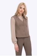 Полуприталенный жилет цвета мокко Emka GL015/tienda