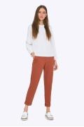 Женские укороченные брюки Emka D-040/terracota