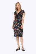 Летнее платье-миди без рукавов из вискозы Emka PL773/fenil
