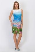 Летнее платье без рукавов Emka Fashion PL-448/assorti