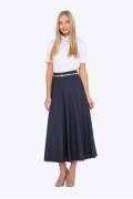 Длинная юбка тёмно-синего цвета Emka 288/meit