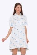 Платье-рубашка с асимметричным низом Emka PL-592/alana