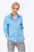 Женская рубашка в мужском стиле голубого цвета Emka B2320/jube