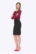 Классическая чёрная юбка прямого кроя Emka 656/lenora