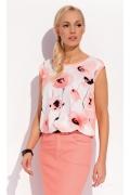 Розовая летняя блузка Zaps Flora
