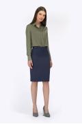 Офисная юбка тёмно-синего цвета Emka S369/flos