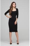 Чёрное платье-футляр Donna Saggia DSP-294-4t