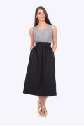 Хлопковая летняя юбка чёрного цвета Emka 709/feliniya