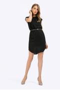 Короткое чёрное платье Emka Fashion PL780/brina