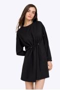 Короткое чёрное платье на кулиске Emka PL846/paula