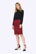Бордовая юбка-миди в офисном стиле Emka S656/matilda
