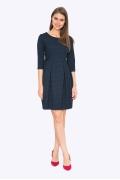 Тёмно-синее платье в чёрный горох Emka PL547/whistle