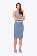 Голубая юбка-карандаш Emka Fashion 202-60/kоrdeliya