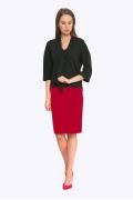 Красная юбка-карандаш на кокетке Emka S202-60/amour