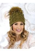Женская шапка из 100% шерсти с помпоном Willi Robertina1