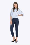 Укороченные брюки-скинни тёмно-синего цвета Emka D030/chester