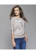 Женская блузка бежевого цвета Zaps Neo