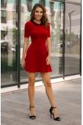 Красное короткое платье из бархата Donna Saggia DSP-264-29t