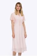 Летнее платье-миди розового цвета Emka PL782/temblar