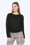 Чёрная женская блузка из вискозы Emka B2302/ludovica