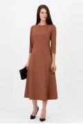 Платье коричневого цвета Emka Fashion PL-517/lizbet