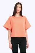 Блузка-кимоно персикового цвета Emka B2202/smoozi