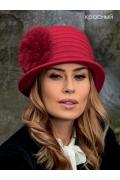 Женская шляпка с помпоном Landre Aga2