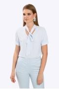 Блузка с воротником в виде банта Emka B2396/angel