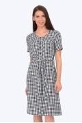 Платье в мелкую клетку Emka Fashion PL-590/marianna