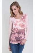 Розовая трикотажная блузка Zaps Odetta