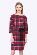 Платье в красную клетку Emka PL750/nino