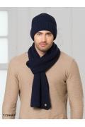 Тёмно-синяя мужская шапка Lаndre Вена