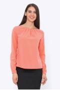 Легкая блузка кораллового цвета Emka b 2117/rezara