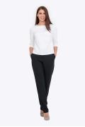 Женские брюки иссине-черного цвета Emka D-006/lorita