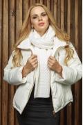 Белый шарф Gulyann Debora