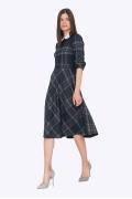 Клетчатое платье с воротником Emka PL694/nefertiti