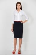 Тёмно-синяя юбка для офиса Юбка Emka Fashion 559-olesya
