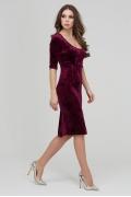 Вишневое бархатное платье с глубоким вырезом Donna Saggia DSP-313-77t