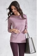 Розовая блузка в тонкую полоску Sunwear V53-5-11