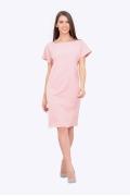 Прямое платье розового цвета Emka PL-631/rolana